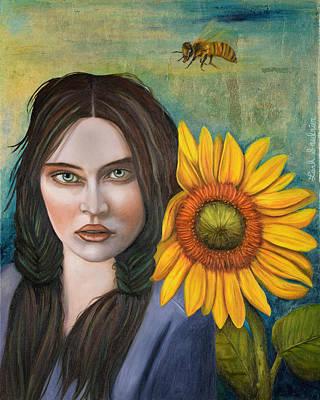 Sunflower Original by Leah Saulnier The Painting Maniac