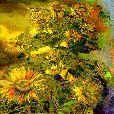 Sunflowers Print by Anne Weirich