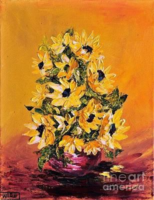 Palette Knife Painting - Sunflowers For You by Teresa Wegrzyn