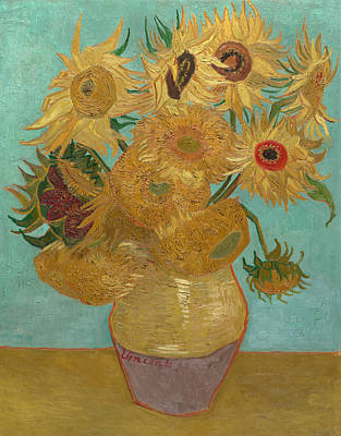 Sunflower Painting - Sunflowers by Vincent van Gogh