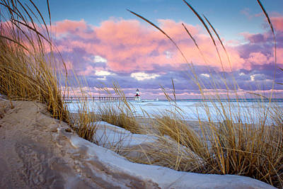 Sunrise In Michigan City Print by Jackie Novak