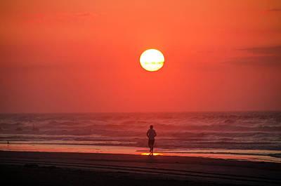 Jogging Digital Art - Sunrise Run by Bill Cannon