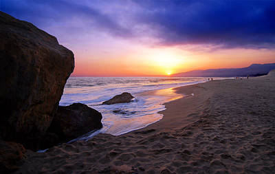 Sunset At Pt. Dume Print by Ron Regalado