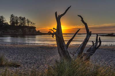 Oregon Photograph - Sunset Bay by Mark Kiver