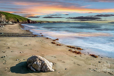 Pebbles Digital Art - Sunset Beach by Adrian Evans