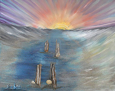 Painting - Sunset On The Bay by Suzanne Surber