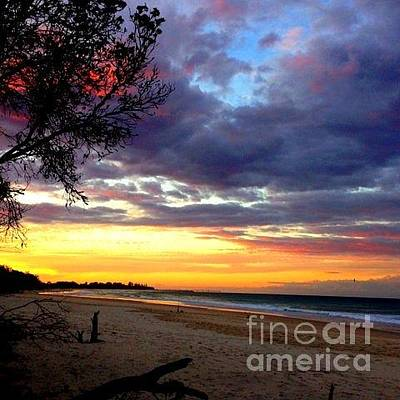 Photograph - Sunset In Australia Melbourn  by Joyce Woodhouse