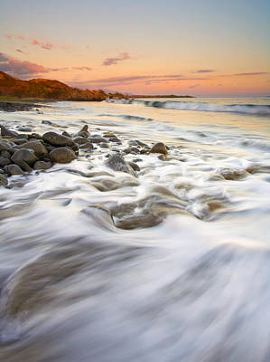 Sunset Tides Print by Mike  Dawson