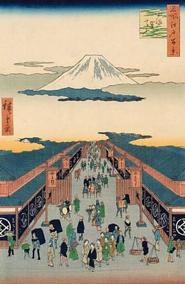 Japanese Painting - Suruga-cho by Utagawa Hiroshige