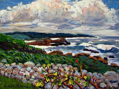 Spring Painting - Swedish Spring by Art Nomad Sandra  Hansen