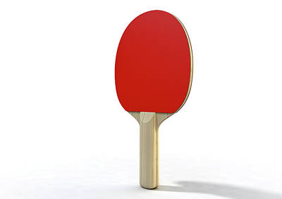 Ping Pong Digital Art - Table Tennis Paddle by Allan Swart