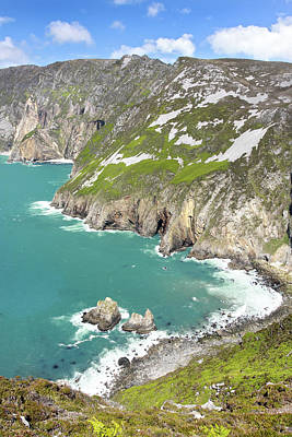 Tall Sea Cliffs Of Slieve League Donegal Ireland Print by Pierre Leclerc Photography