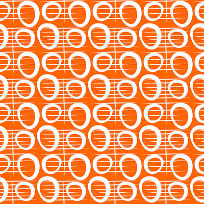 Designer Mixed Media - Tangerine Loop by Linda Woods