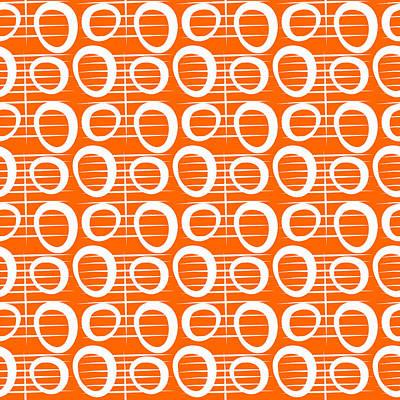 Tangerine Loop Print by Linda Woods