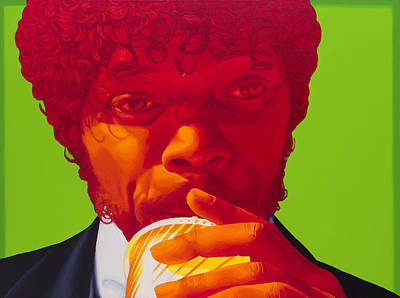 Samuel L Jackson Painting - Tasty Beverage by Ellen Patton