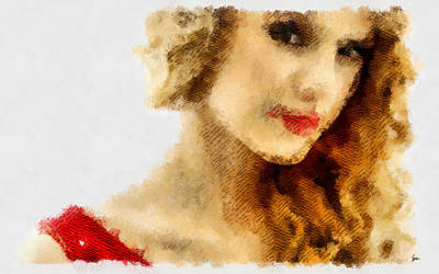 Taylor Swift Painting On Canvas Original by Sir Josef Social Critic - ART