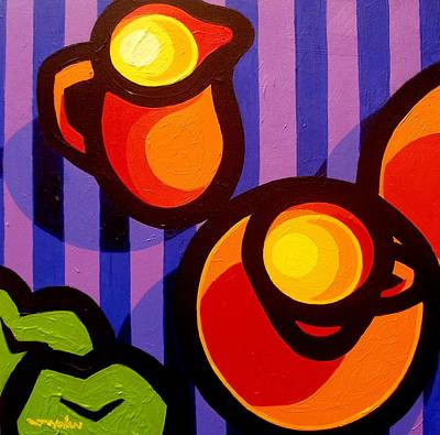 Tea And Apples Print by John  Nolan