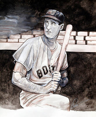 Ted Williams Print by Dave Olsen