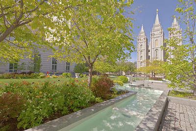 Downtown Area Photograph - Temple Square Salt Lake City Utah. by Gino Rigucci