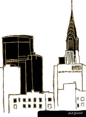 Empire State Building Painting - Tenement Empire State Building by Nicholas Biscardi