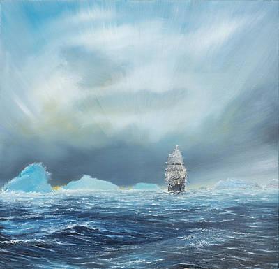 Iceberg Painting - Terra Nova by Vincent Alexander Booth