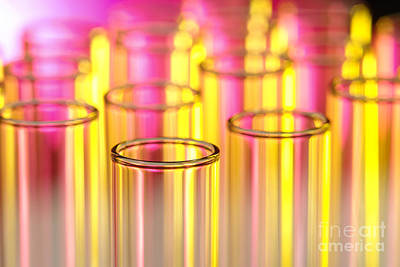 Chemical Photograph - Test Tubes In Science Lab by Olivier Le Queinec
