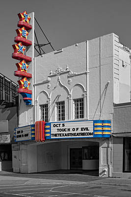 Texas Theater Print by David and Carol Kelly