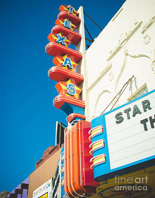 Texas Theatre Print by Sonja Quintero