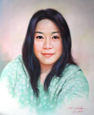 Thai Drawing - Thai Woman by Chonkhet Phanwichien