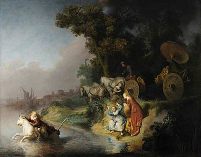 Riding Painting - The Abduction Of Europa by Rembrandt van Rijn