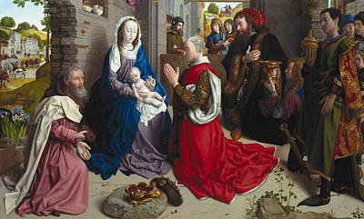 The King Painting - The Adoration Of The Kings by Hugo van der Goes