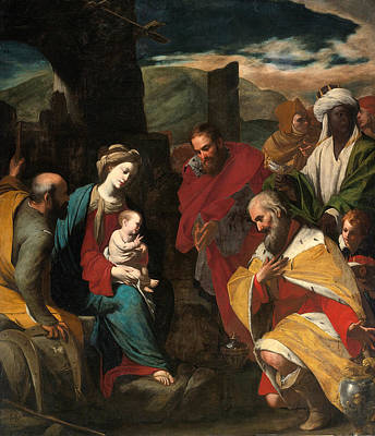 Adoration Magi Painting - The Adoration Of The Magi by Massimo Stanzione