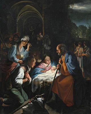 Painting - The Adoration Of The Shepherds by Carlo Saraceni
