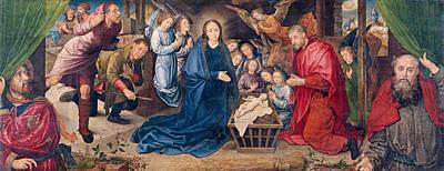 Shepherd Painting - The Adoration Of The Shepherds by Hugo van der Goes