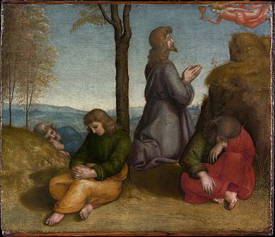 Agony Painting - The Agony In The Garden by Raphael