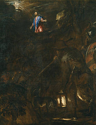 The Agony In The Garden Print by Titian