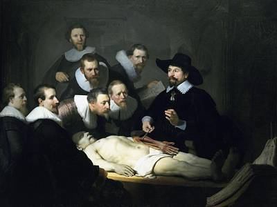 Education Painting - The Anatomy Lesson by Rembrandt