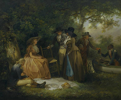 18th Century Painting - The Anglers' Repast by George Morland