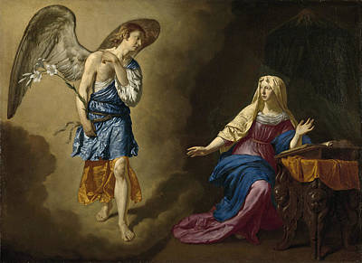 Adriaen Van De Velde Painting - The Annunciation by Adriaen van de Velde
