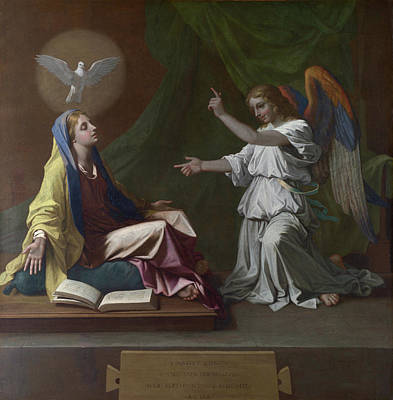 Saint Painting - The Annunciation by Nicolas Poussin