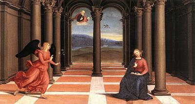 Gabriel Painting - The Annunciation by Raffaello Sanzio