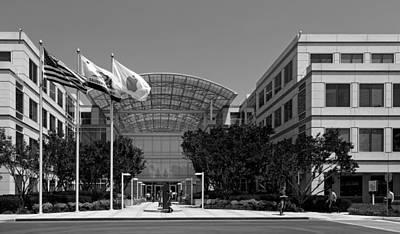 Black Commerce Photograph - The Apple Campus - Cupertino California by Mountain Dreams