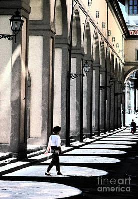 Photograph - The Arcade  Florence Italy by Tom Wurl