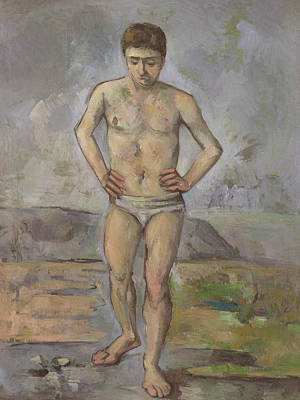 The Bather Print by Paul Cezanne