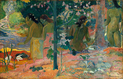 Portrait Painting - The Bathers by Paul Gauguin