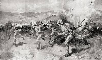 South Africa Drawing - The Battle Of Colenso, Natal, South by Vintage Design Pics