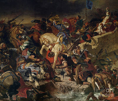 The Battle Of Taillebourg Print by Eugene Delacroix