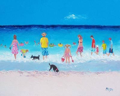 The Beach Parade Print by Jan Matson