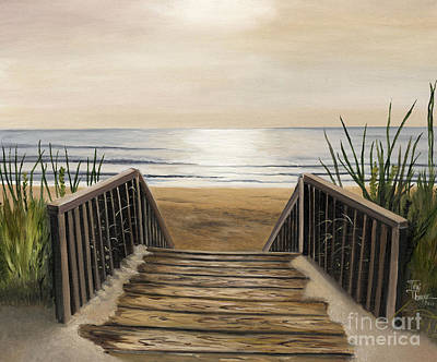 Beach Painting - The Beach by Toni  Thorne