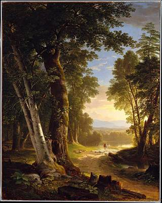 American Artist Painting - The Beeches by Asher Brown Durand